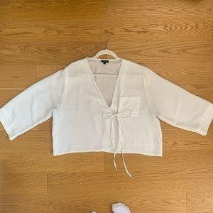 Topshop White Kimono Shirt